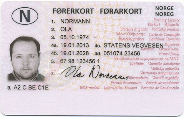 Norway-Drivers-License-Front