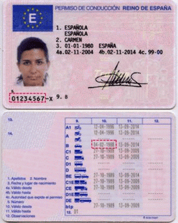A full driver's license in Spain